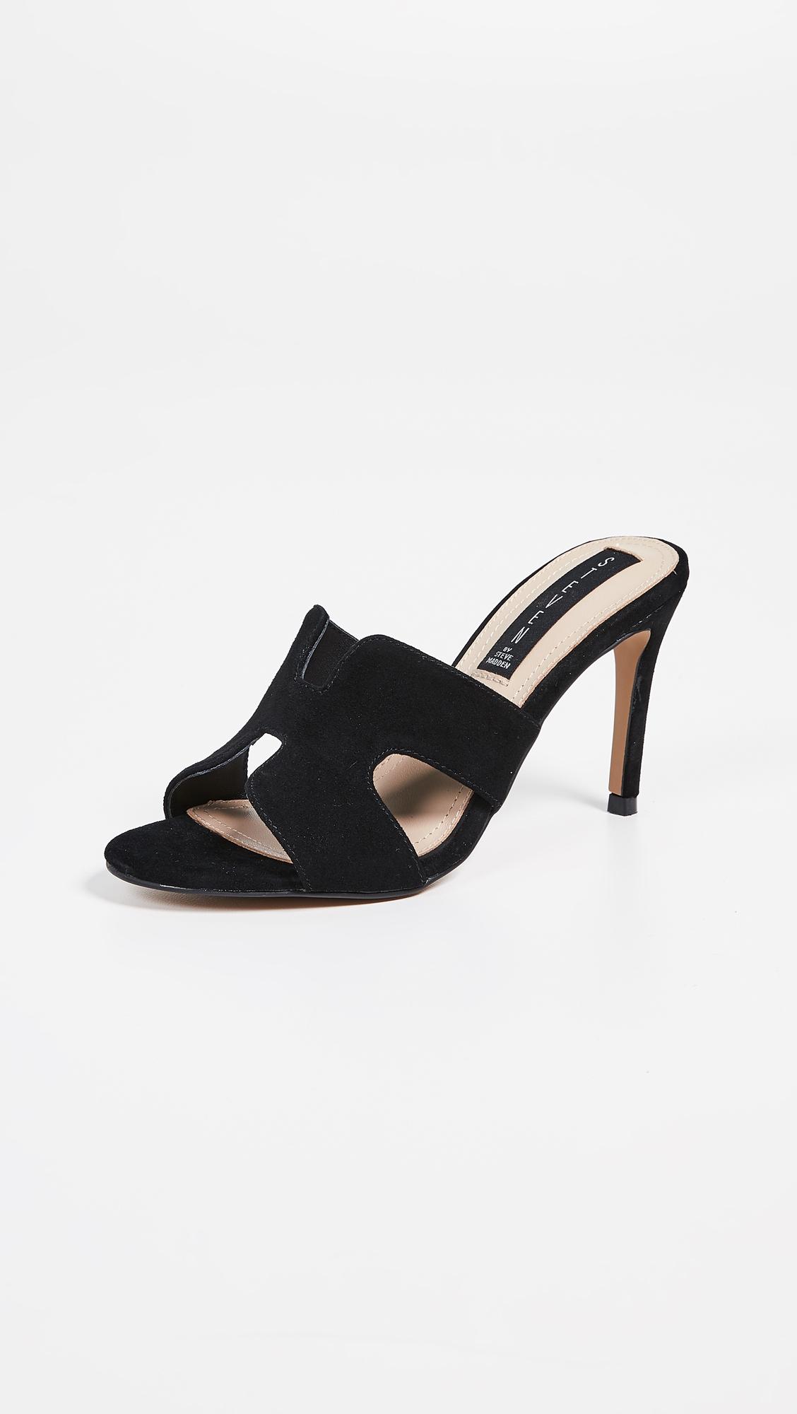 Nylah Mules Heels Black Dress Sandals Steve Madden Shoes