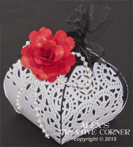 Alex's Creative Corner: Goth inspired gift boxes
