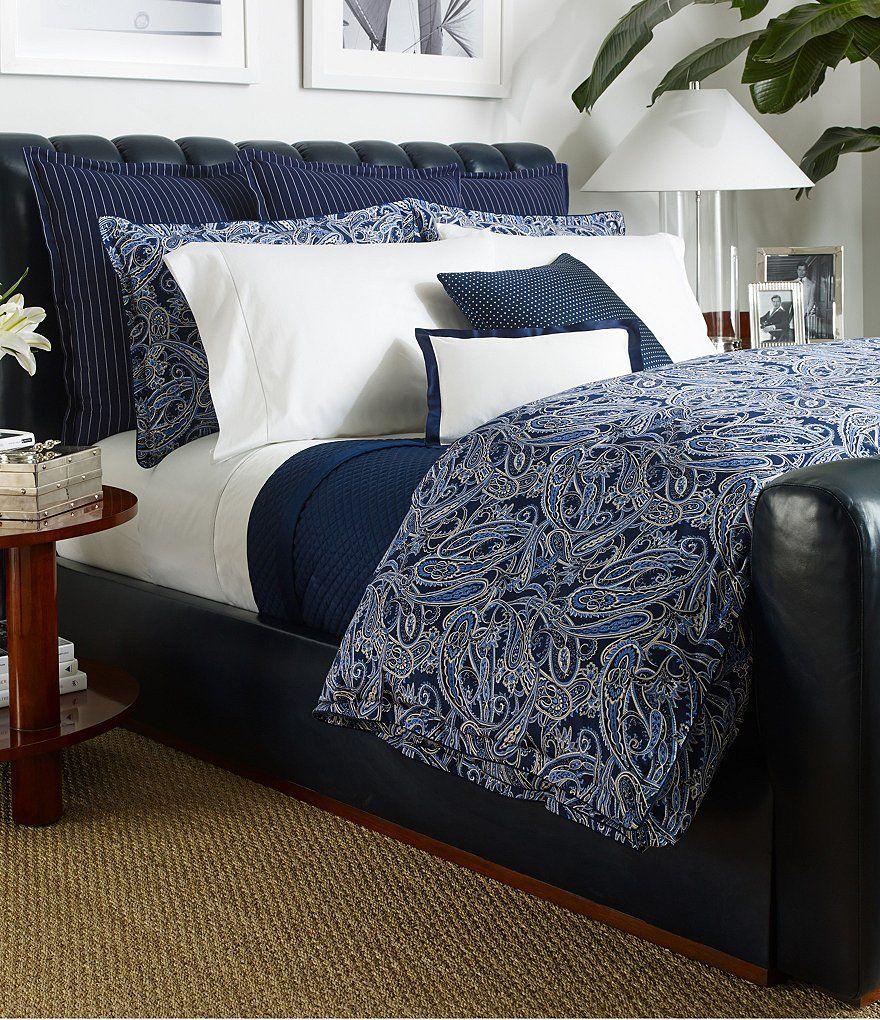 ralph lauren costa azzurra nautical paisley comforter | blue