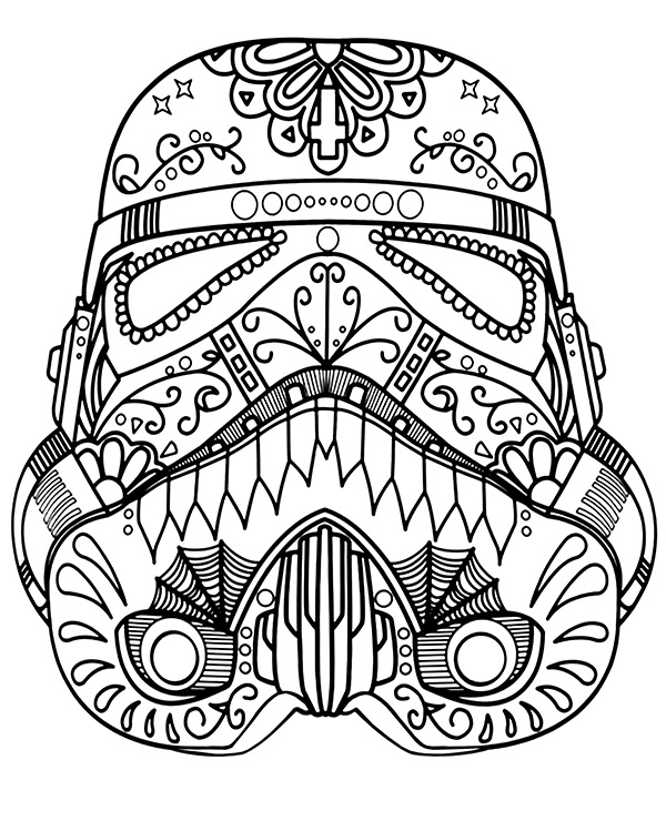 Storm Trooper mandala - Topcoloringpages.net in 2020 | Color me ...