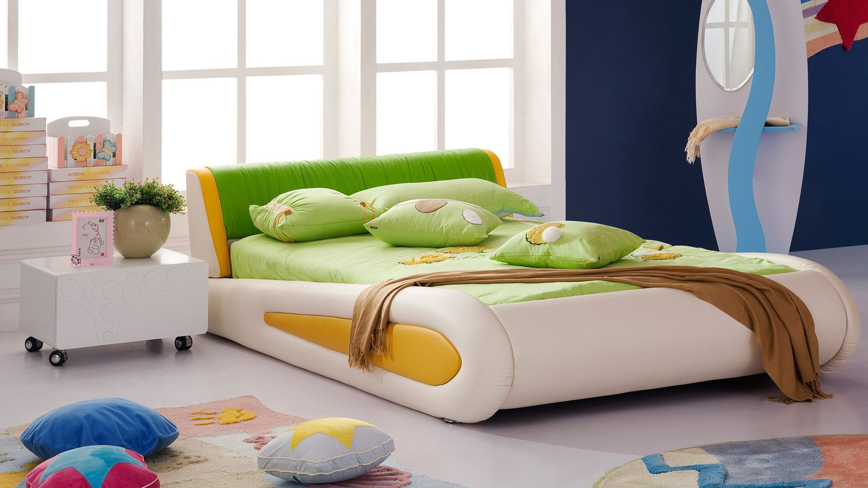 contemporary kids bedroom furniture green. Shop Green Leather Kermit Kids Frog Bed And Other Modern Contemporary Home Office Furniture. Browse Our Selection Of Beds From Zuri Bedroom Furniture A