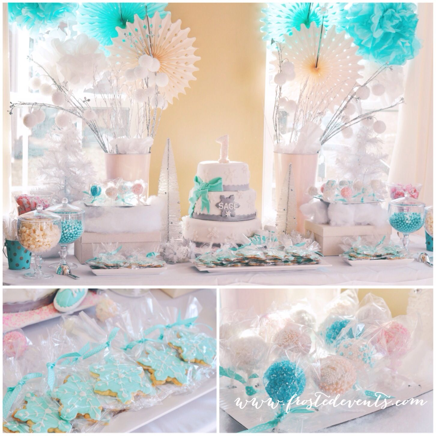 Winter Wonderland First Birthday Party by Frosted Events