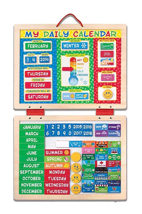 My Magnetic Daily Calendar  Toys For  Year Olds  Melissa And