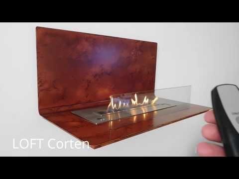 LOFT Smart Kamin Mit Fernbedienung. AFIRE Moderne U0026 Design Kluge Biokamin · Ethanol  KaminLofts