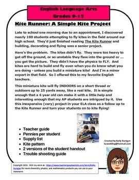 Kite Runner Miniature Kite Project Or Activity 3 50 Schools First The Kite Runner Teacher Guides