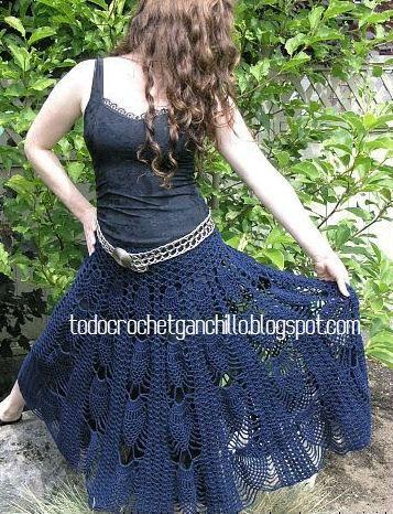 20 Faldas para tejer con Ganchillo / patrones y moldes   Todo crochet