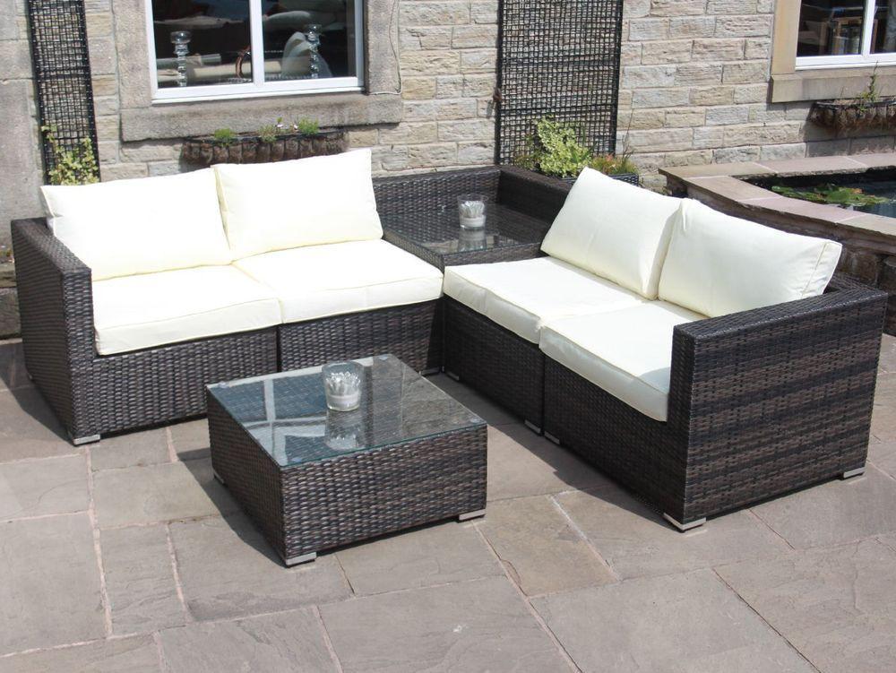 Awesome Rattan Outdoor Garden Furniture, Grey Rattan Patio Furniture Set