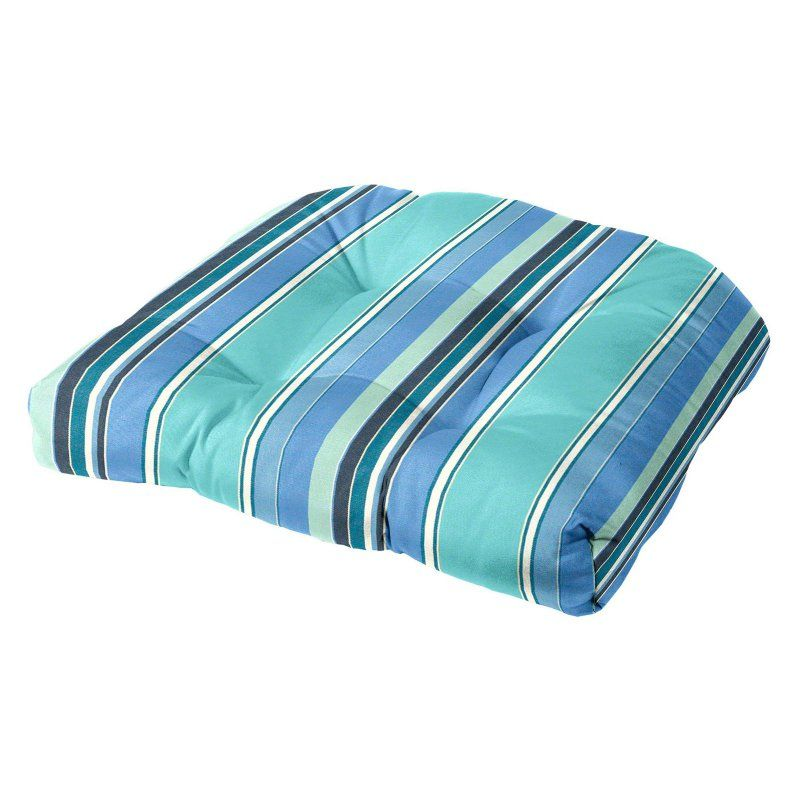 Cushion Source Sunbrella Striped 19 X 18 In Rounded Back Chair