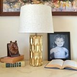 Gold Faceted Lamp from Dream A Little Bigger