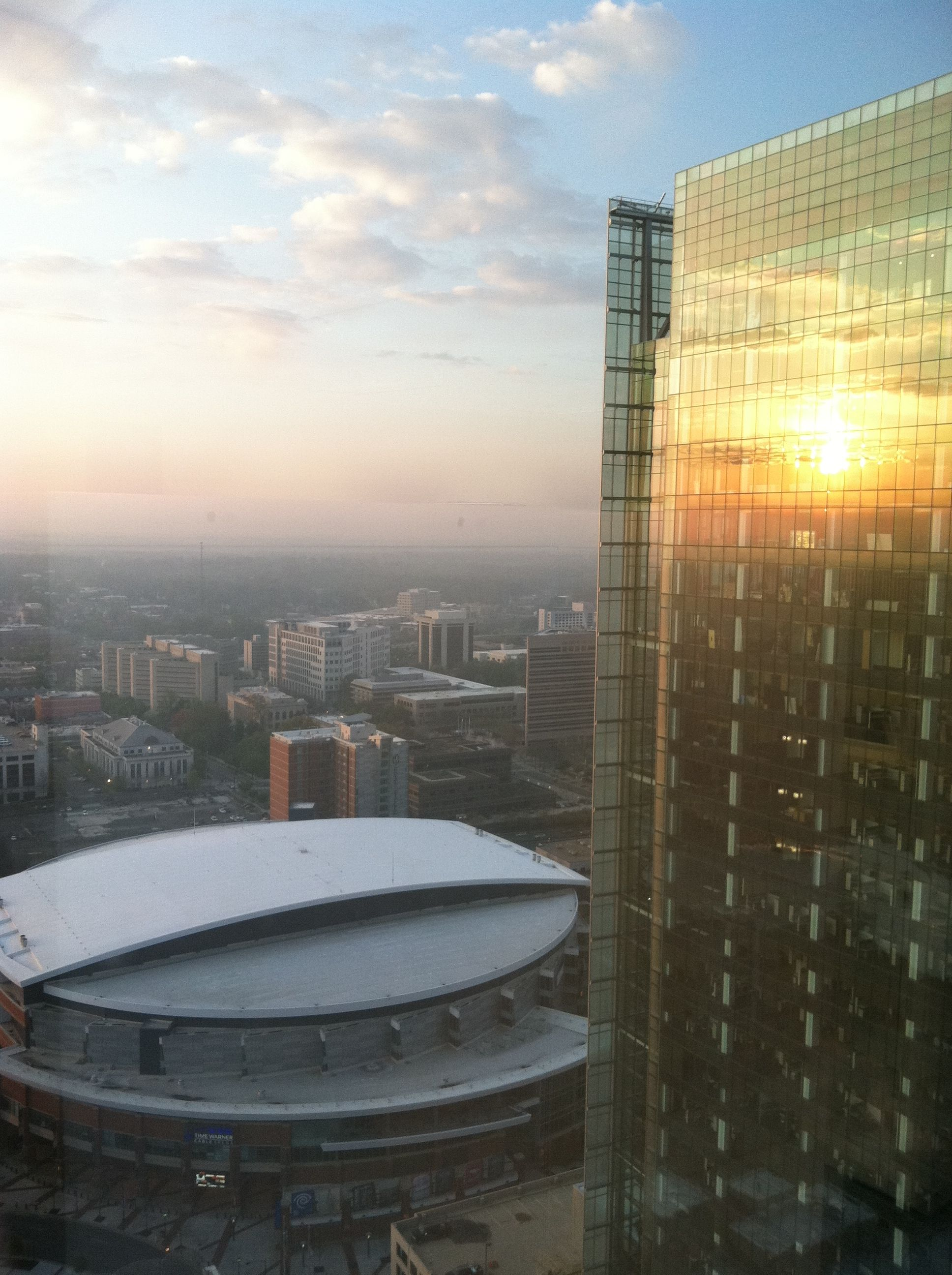 Another view from work over looking time warner arena and