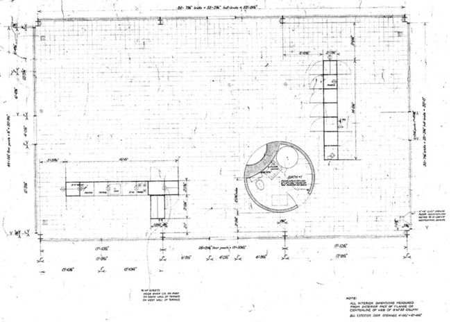 Glass House Philip Johnson Plan Johnson Glass House Floor Plan Maison De Verre Dessin Jardin Maison