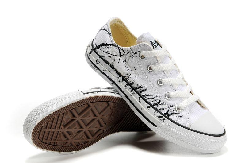 8955ff6d1488 Mens and Womens Converse graffiti shoes white black