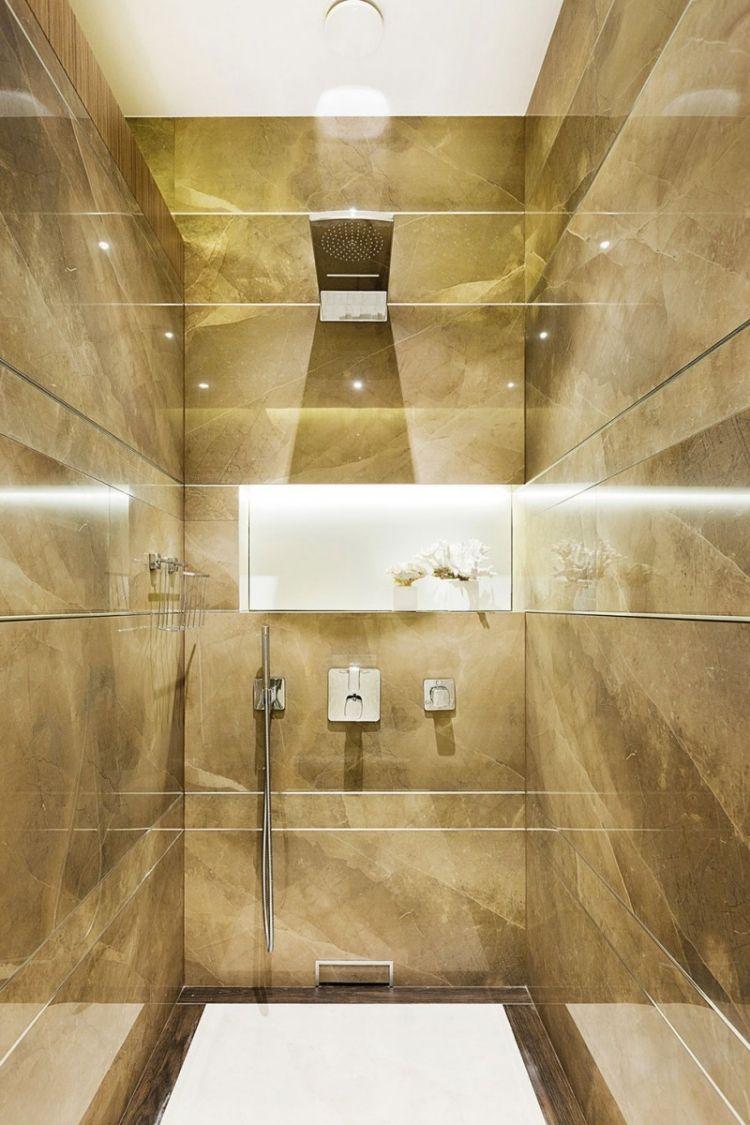 Naturstein-Optik in natürlichen Farben | Badezimmer Gestaltungsideen ...