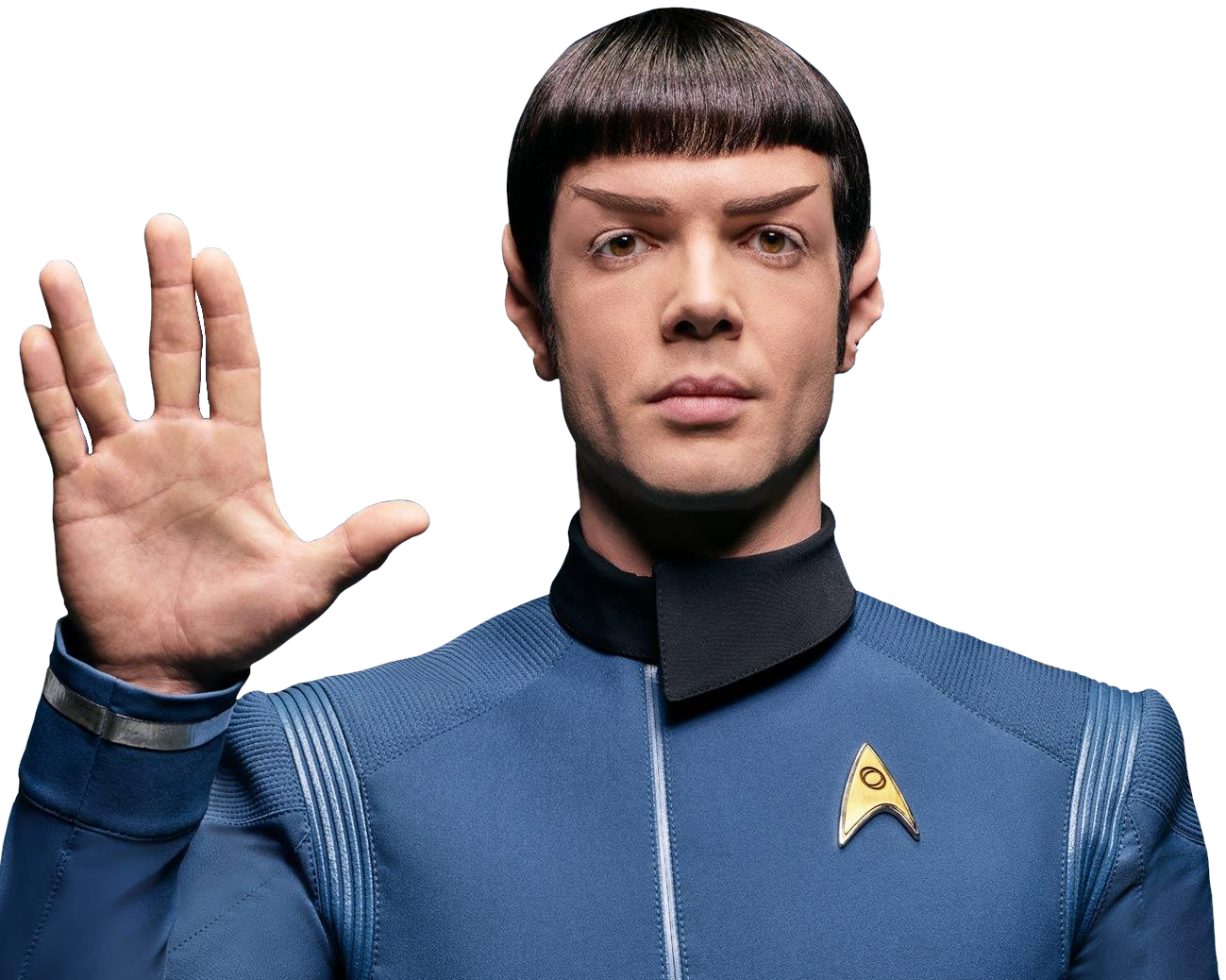 Http Snw Trekcore Com Gallery Albums Promo Photos Cast Spock S0 Spock Blueshirt Png Star Trek Series Star Trek Characters Star Trek Movies
