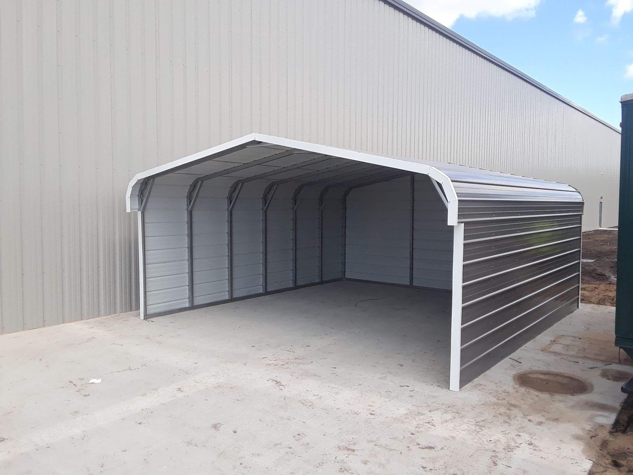 20x21x8 Metal Storage Carport In Ludington Mi Carport Steel Carports Metal Carports