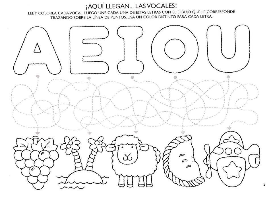 Aprendemos Las Vocales Con Estas Fichas Para Colorear Actividades Del Alfabeto En Preescolar Actividades De Lectura Preescolar Vocales Para Colorear