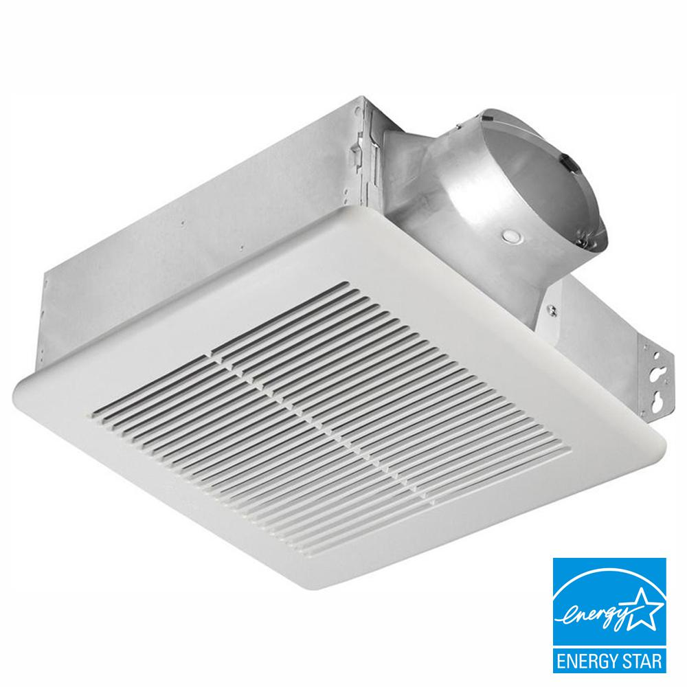 Delta Breez Slim Series 100 Cfm Ceiling Or Wall Bathroom Exhaust Fan Energy Star Slm100 The Home Depot In 2020 Bathroom Exhaust Fan Bathroom Exhaust Exhaust Fan