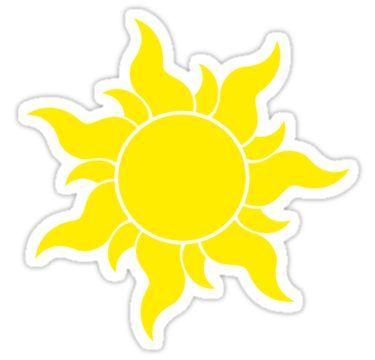 Tangled Sun Symbol Sticker Disney Sticker Tangled Sun Aesthetic Stickers