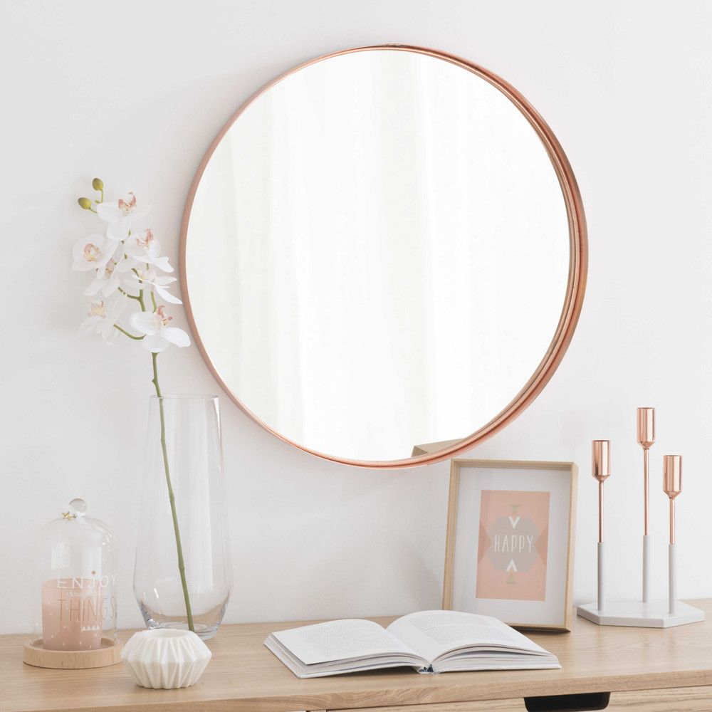 miroir en m tal cuivr d 55 cm cuivre pinterest miroirs maison du monde et bougies roses. Black Bedroom Furniture Sets. Home Design Ideas
