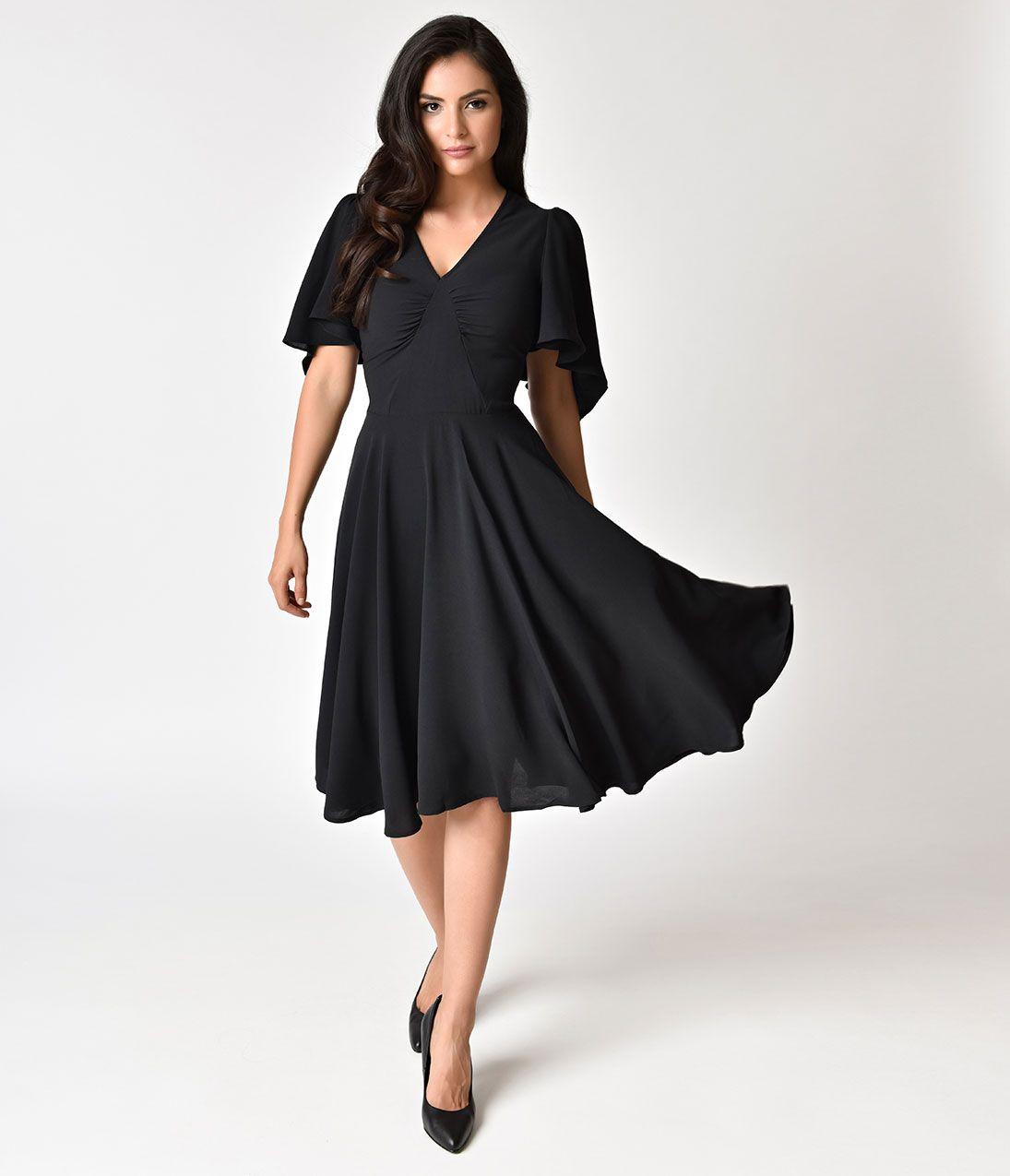 7b722fe561 Hell Bunny Red   Black Velvet Sherwood Swing Dress