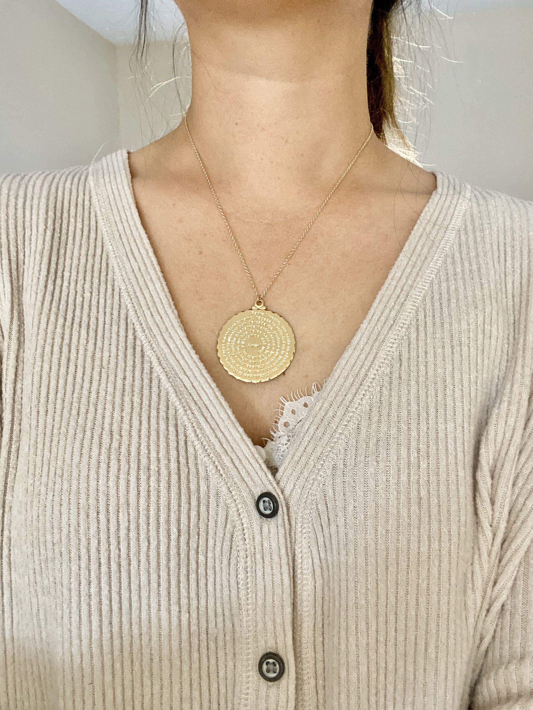 Spanish Prayer Necklace, The Lord's Prayer Pendant, Padre