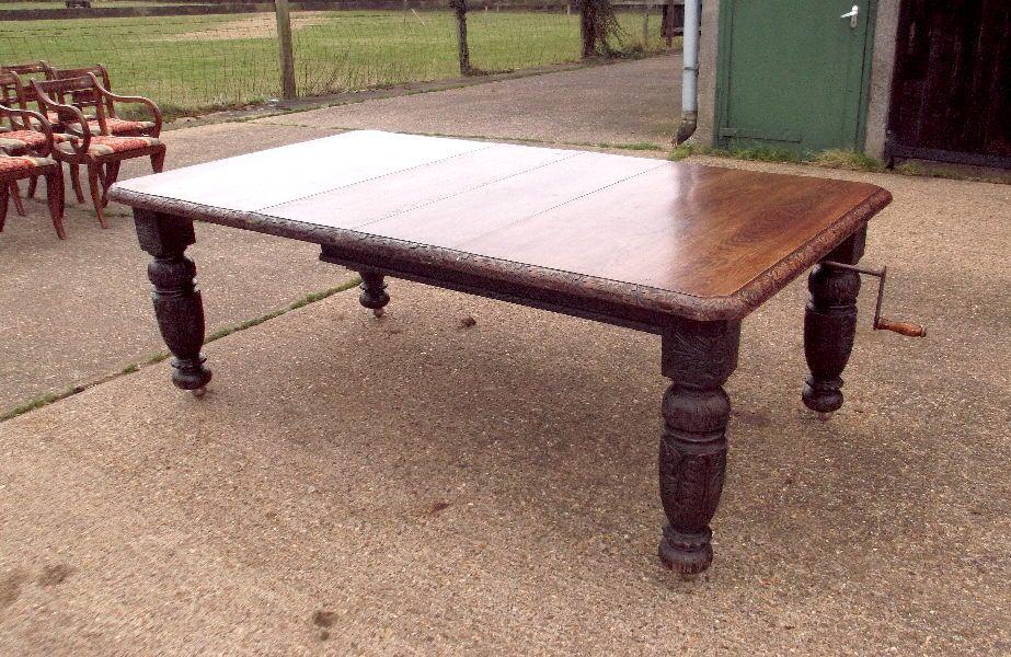 High Quality 2 Metre Antique Oak Table   Large 7 Ft Century Jacobean Oak Extending  Dining Table