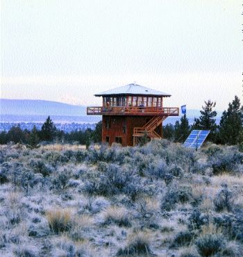 In central oregon s high desert with sweeping mountain for Lookout tower plans