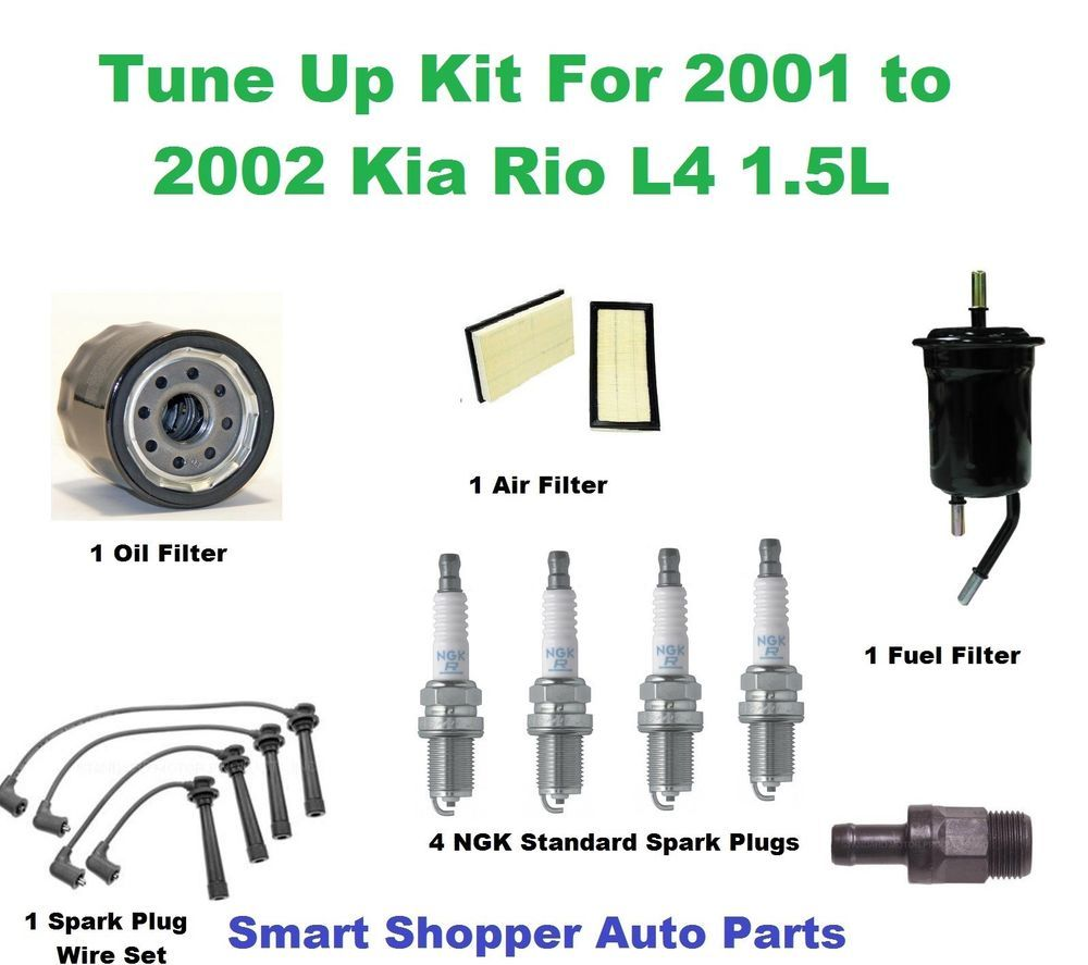 tune up kit for 2001 2002 kia rio spark plug wire set spark plug air filter aftermarketproducts [ 1000 x 887 Pixel ]