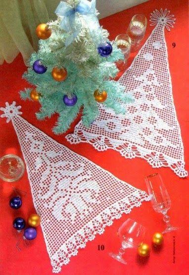 Hobby lavori femminili ricamo uncinetto maglia albero di