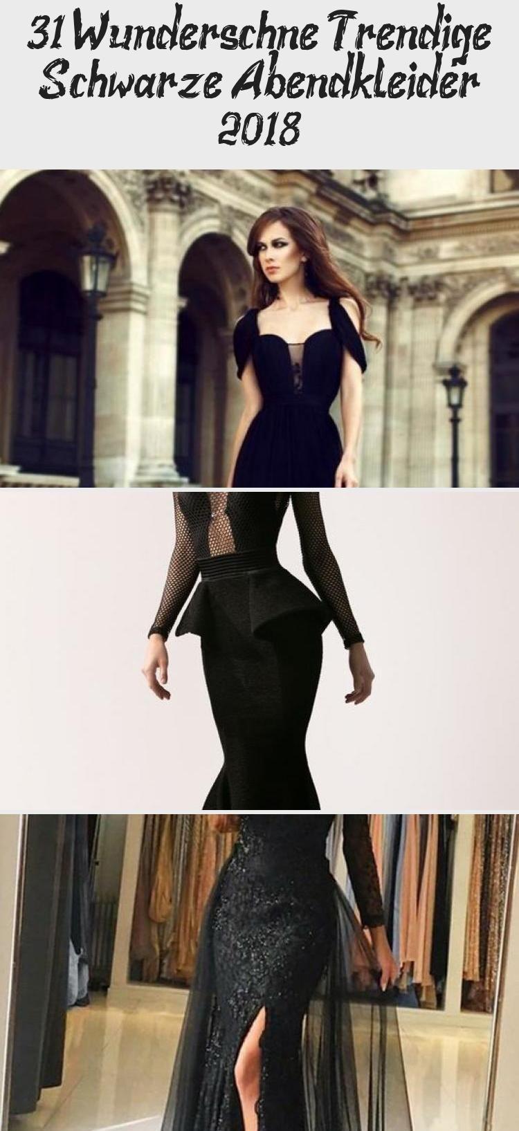 31 wunderschöne trendige schwarze abendkleider 2018 ein