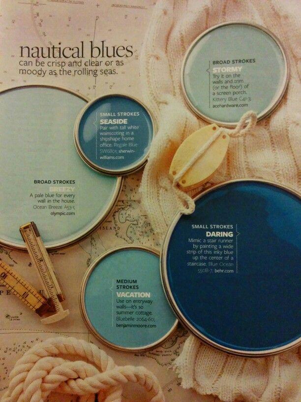 Nautical Blue Colors Paint Colors For Home Paint Color Schemes Paint Palette