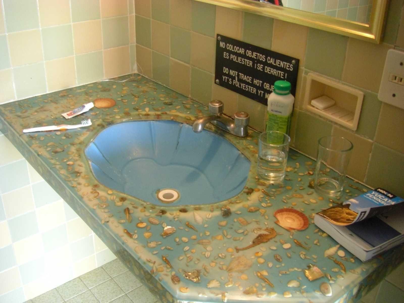 3421bd bathroom vanity ideas - Seashell Countertop