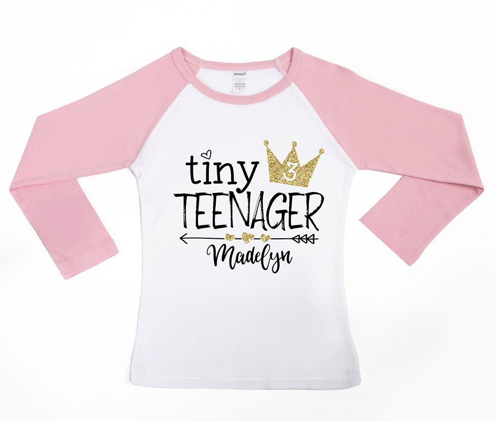 Tiny Teenager Birthday Shirt 3rd Toddler By VazzieTees