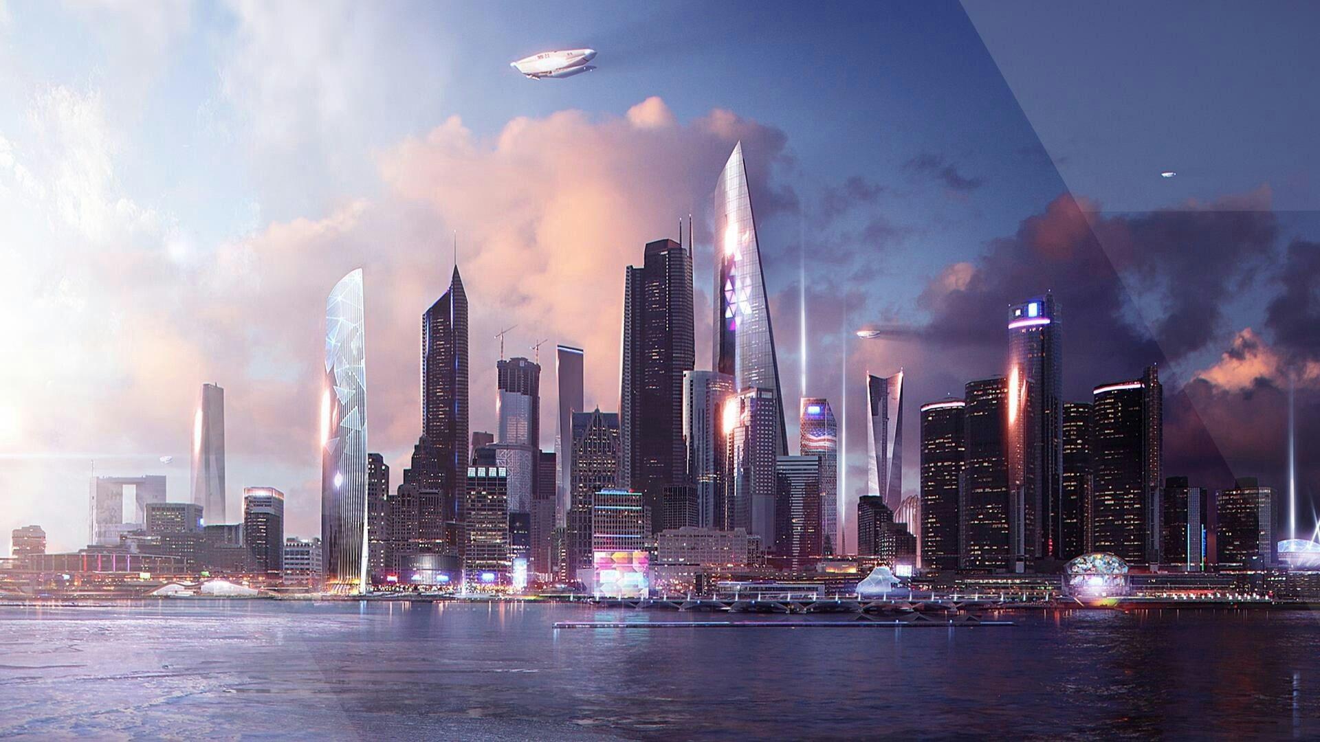 Detroit City Detroit Future City Detroit Become Human Futuristic City