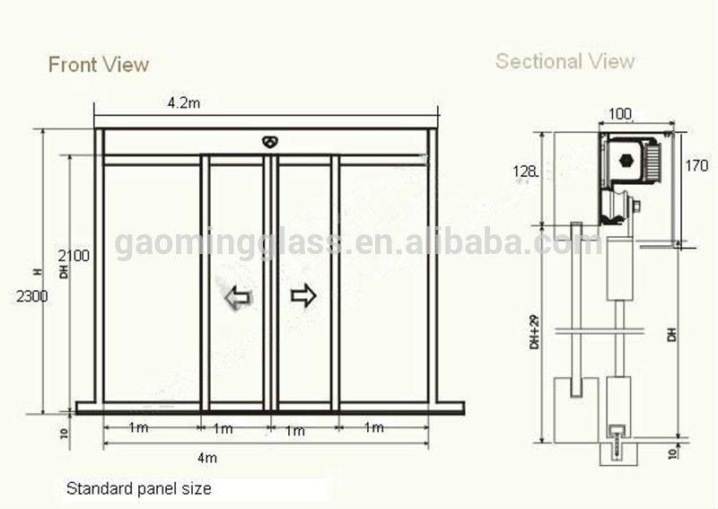 Sliding Glass Door Plan automatic single tempered glass sliding door gm-ad1405 - buy