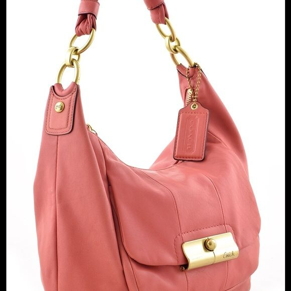 365f08d673 Coach 16808 Kristin Leather Shoulder bag COACH PINK HOBO LEATHER HANDBAG  Coach calls this color Peony for whatever reason. The leather is amazingly soft  and ...