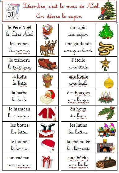 Noel Des Mots Imparare Il Francese Natale Francese E Lezioni Di Francese