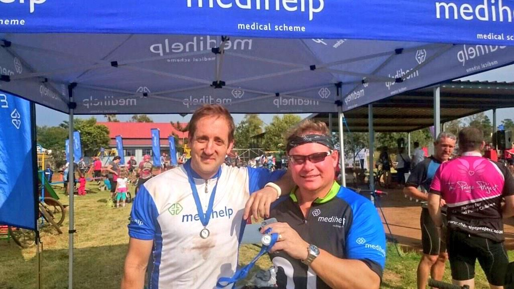 Medihelp members with their new medals