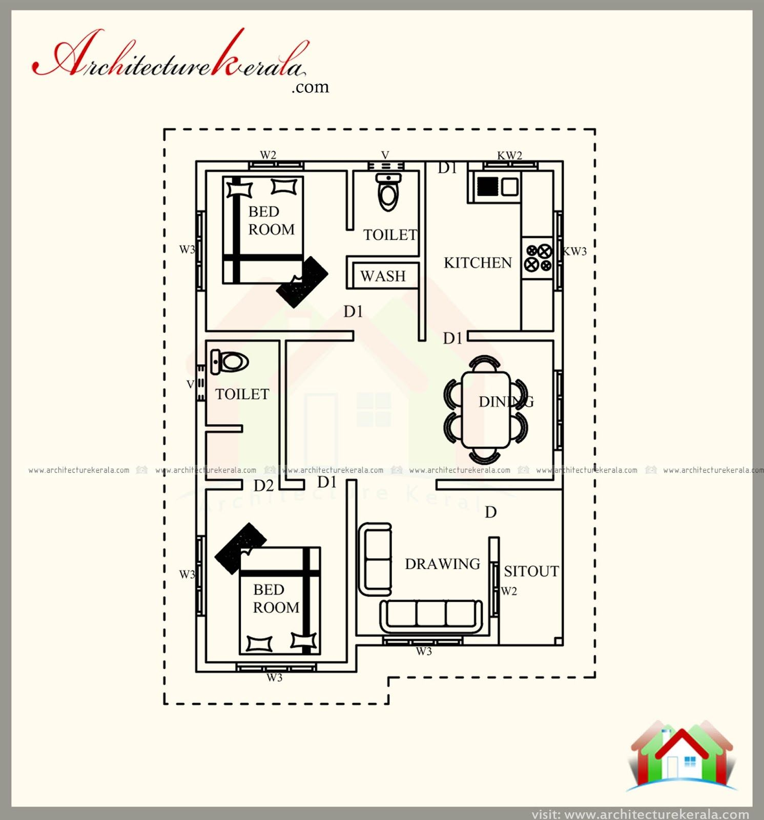700 Square Feet House Plan With New Different Contemporary Elevations Architecture Kerala Southern House Plans Contemporary House Plans New House Plans