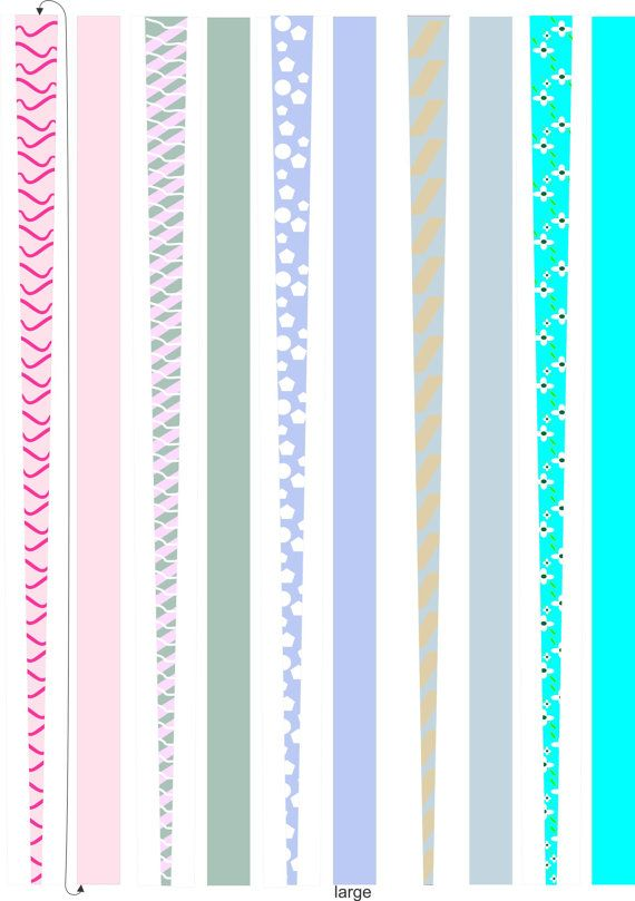 Paper Bead Templates, For making Paper Beads, 5 pages, Printable ...