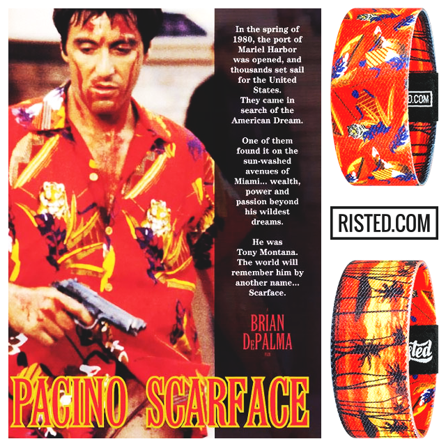 Now live at risted.com! Get this epic bracelet based on the iconic movie Scarface. #scarface #tonymontana #alpacino #movie #movielovers #moviebuff #classic #80s #miami #cuban #money #power #ragstoriches #gangster