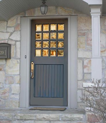 Red Wood And Glass Pre Hung Doors Exterior And Interior Doors