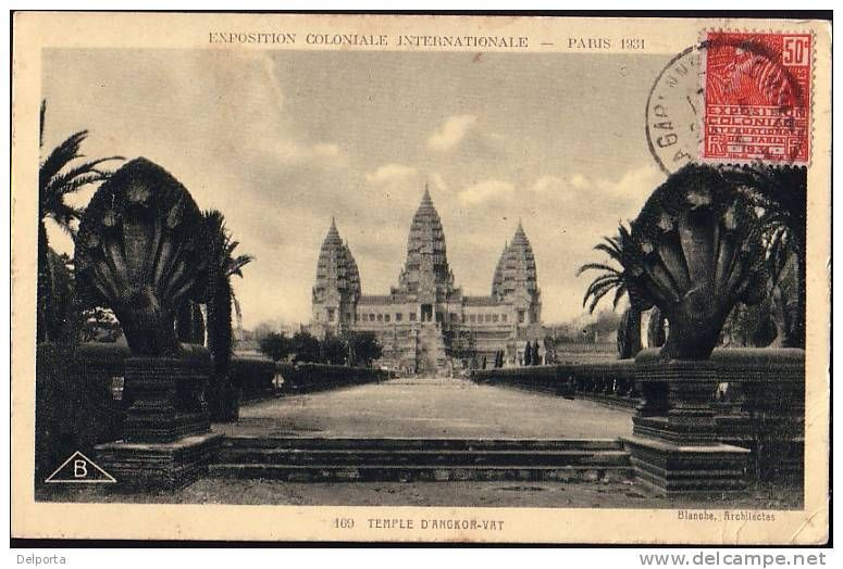 Cambodia Angkor Vat EXPO COLONIAL Paris 1931 * CPA Old Pc * INDO CHINA * Indochine * In59 - Exhibitions