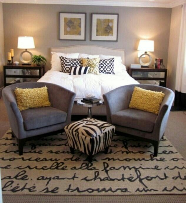 Gold Color Bedroom Ideas: I Like The Gray And Yellow. But I'm More Interested In The