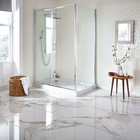mimosa white gold 120x60 calacatta marble effect tiles in