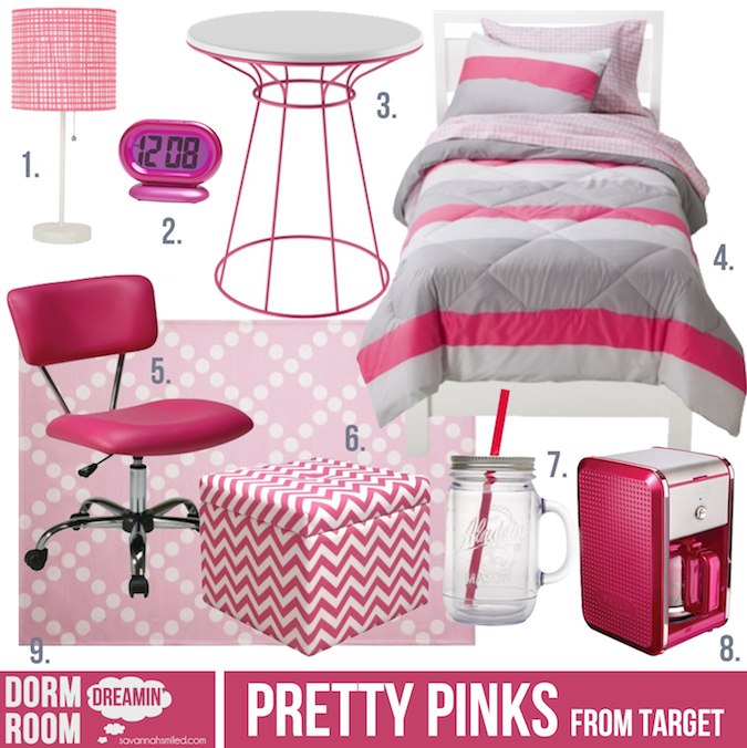 Dorm Room Inspiration From Target. #target #pink #dorm Part 26