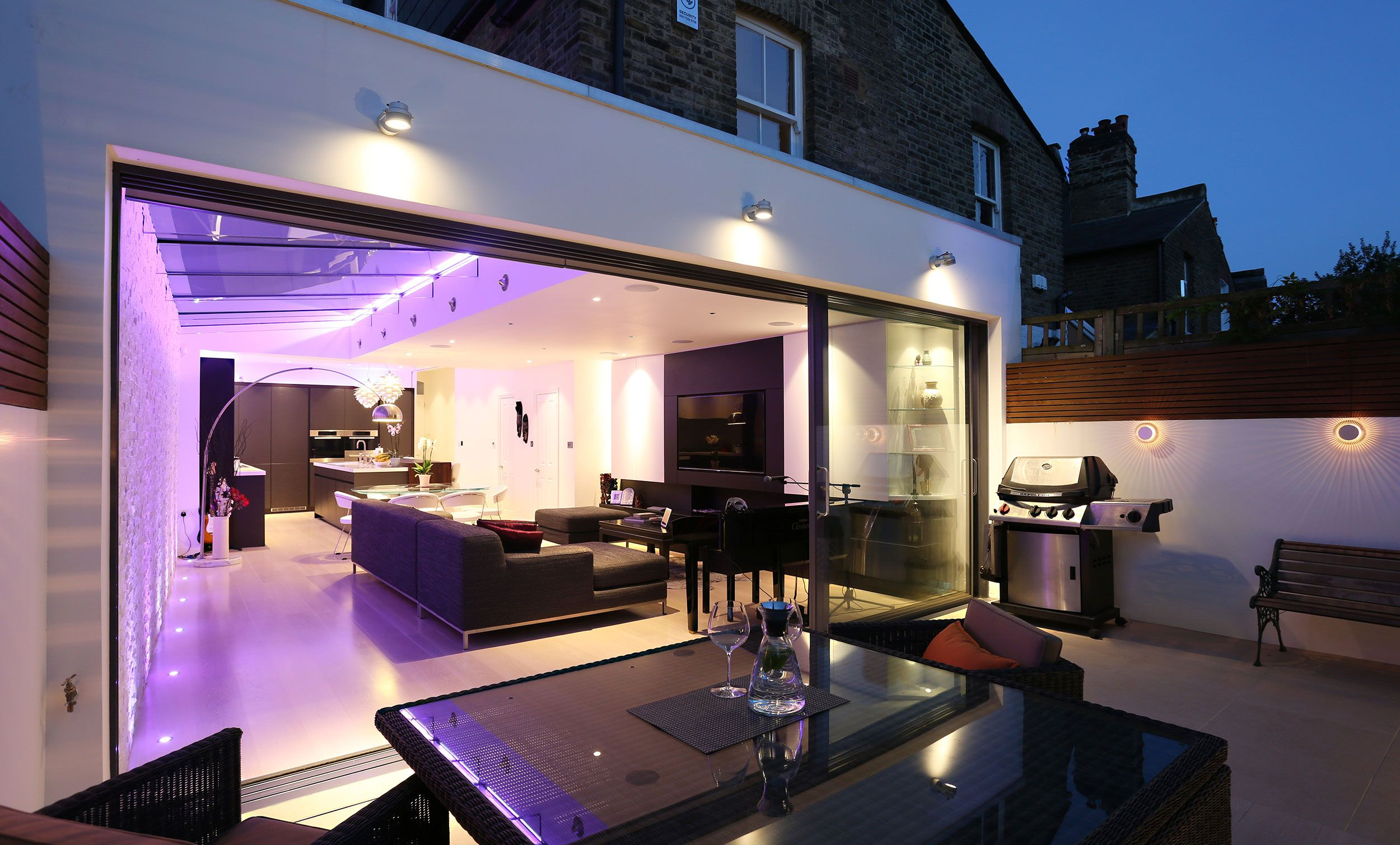 Best A Modern Flat Roof Rear Extension With A Pitched Glass 400 x 300