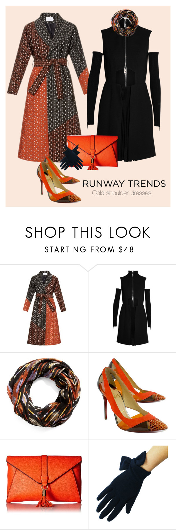 """You can run, but you can't hide"" by scope-stilettos ❤ liked on Polyvore featuring Osman, Versus, Vera Bradley, Christian Louboutin and Milly"