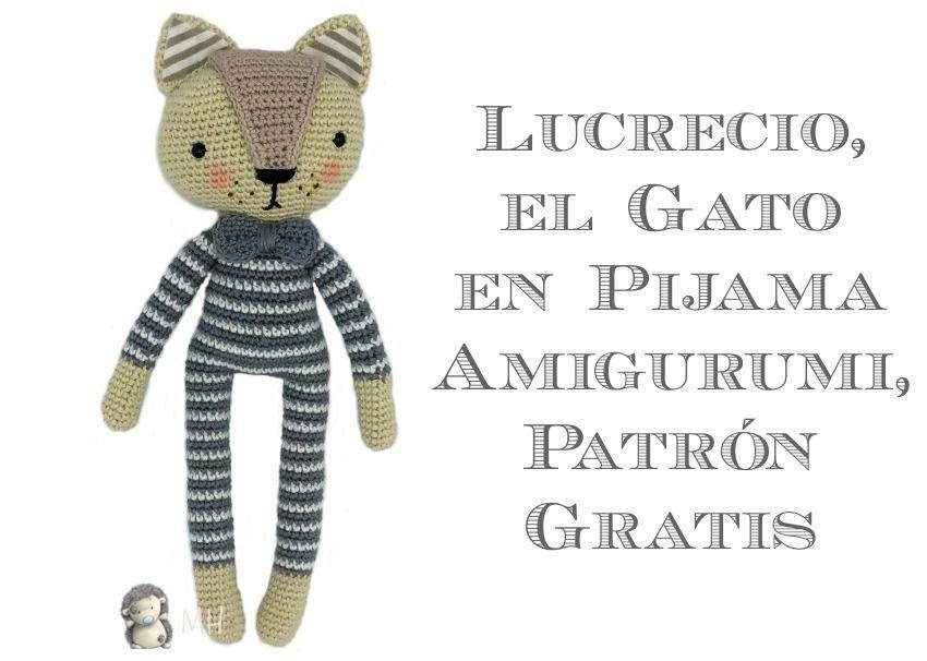 Patrón gratuito para realizar a Lucrecio, un elegante gatito con ...