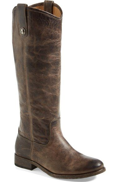 'Melissa Button' Frye Boot >> Extended Calf in Slate Leather Size ...